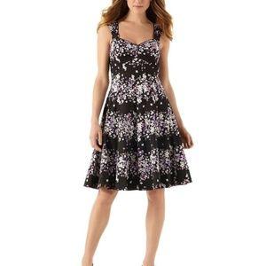 White House Black Marke Floral Sun dress fit flare